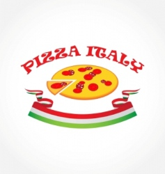 pizza Italy vector image vector image
