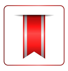 Red bookmark banner 2 vector