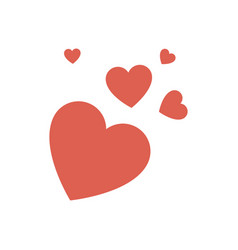 Romantic hearts isolated vector