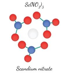 Scandium nitrate ScN3O9 molecule vector image vector image