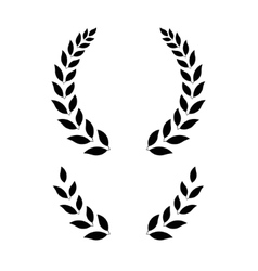 simple laurel wreath - vector image vector image