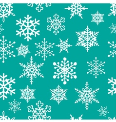 Snowflakes pattern vector
