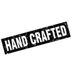 Square grunge black hand crafted stamp vector