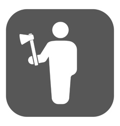 The lumberjack avatar icon Forester and vector image