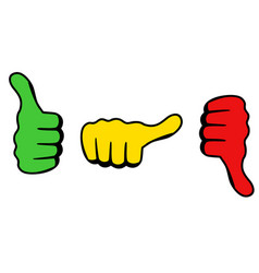 Three thumbs icon for satisfaction level vector