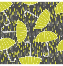 Umbrella and rain wallpaper vector image vector image
