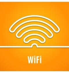 Wifi icon on orange background vector