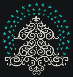 Christmas tree star vector