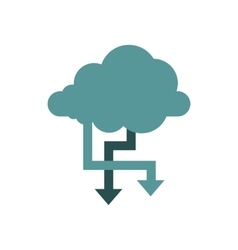 Storing files in cloud icon flat style vector