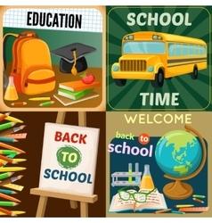 School Education Compositions vector image