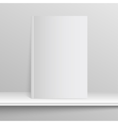 Blank empty magazine on a gray background vector