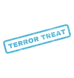 Terror treat rubber stamp vector