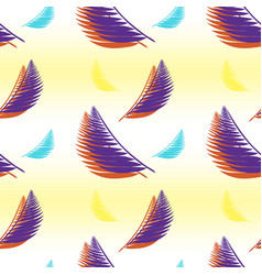 gradient seamless pattern with various palm leaves vector image