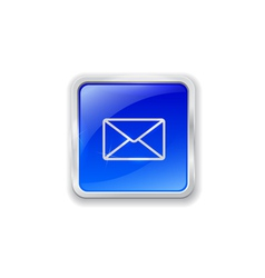 E-mail icon on blue button vector
