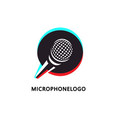 Logo design for music or broadcasting related vector
