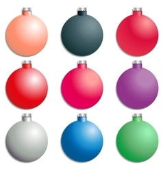 A set christmas tree decorations vector