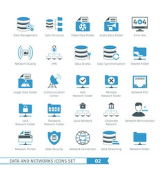 Networks icon set 02 vector