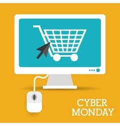 Cyber monday design vector