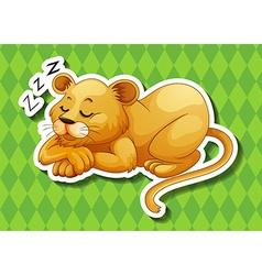 Lion cub sleeping alone vector image
