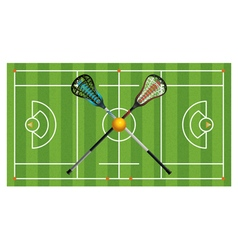 Lacrosse field equipment aerial vector