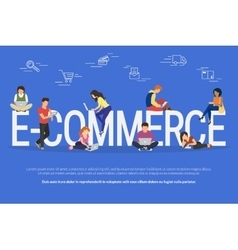 E-commerce concept vector