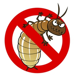 Anti termite sign vector
