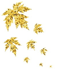 Autumn fall with golden maple leaves vector