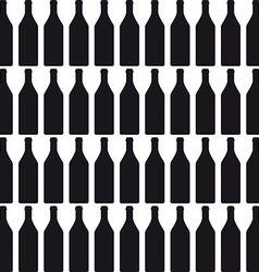 Background with bottles COLOR silhouette vector image vector image