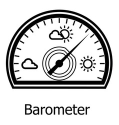 Barometer icon simple style vector