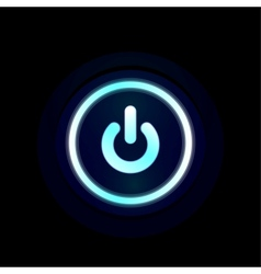blue LED power button design vector image vector image