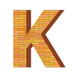 brick letter K vector image