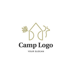 camp logo vector image