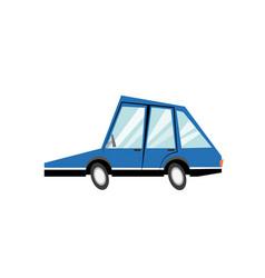 Cartoon blue car transport model image vector