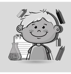 character cartoon child notebook vector image