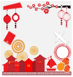 China background travel culture vector image