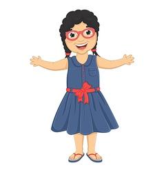 Cute Girl Huge vector image