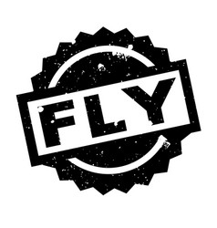 fly rubber stamp vector image vector image