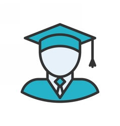 Graduate Outline Icon vector image vector image