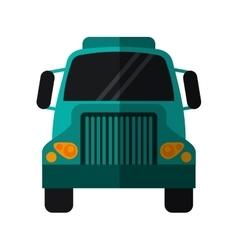 Green front truck transportation commercial vector