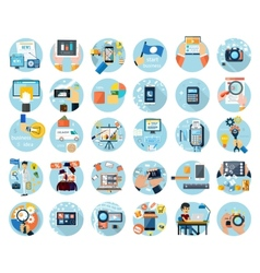 Icons set for business presenteshion vector image