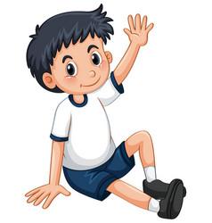 little boy having arm up vector image vector image