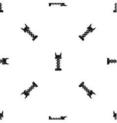 mechanic pattern seamless black vector image vector image