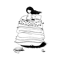 Princess on the Pea vector image