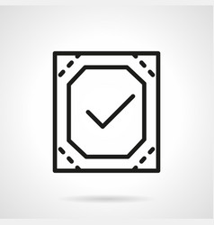 Quality control simple line icon vector