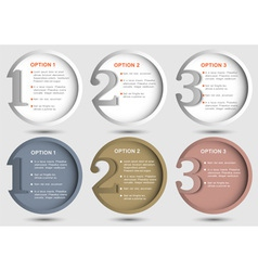 Round numbered banners vector