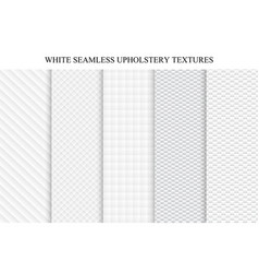 set of soft seamless white textures vector image vector image