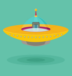 spaceship flat vector image
