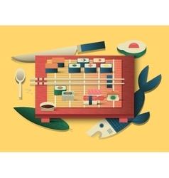 Sushi design flat vector image vector image