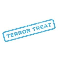 Terror treat rubber stamp vector