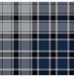 Blue check plaid seamless pattern vector image